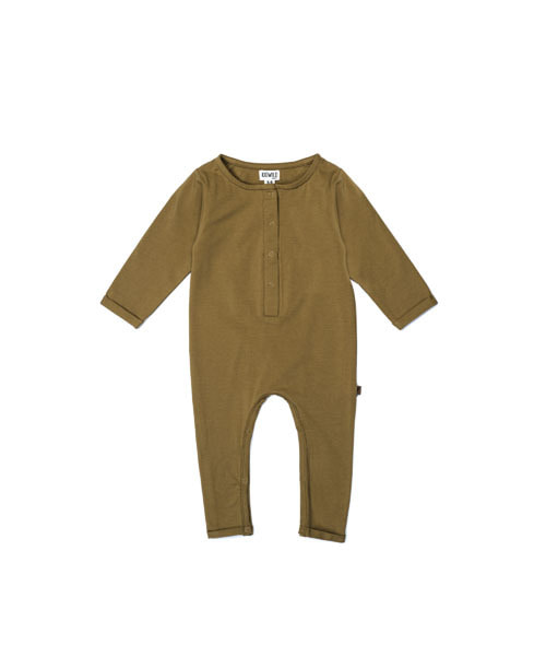 KIDWILD _ henley playsuit (curry)