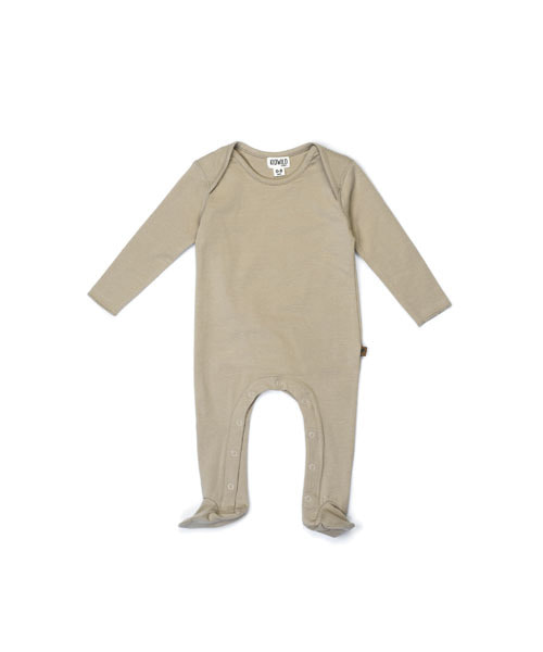 KIDWILD _ footed jumpsuit (dune)